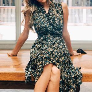 Maggy London Black Floral Dress
